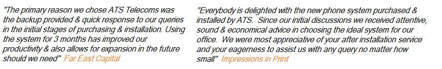 Hear what our customers rave on about ATS Telecoms when they help their business for the last 25years